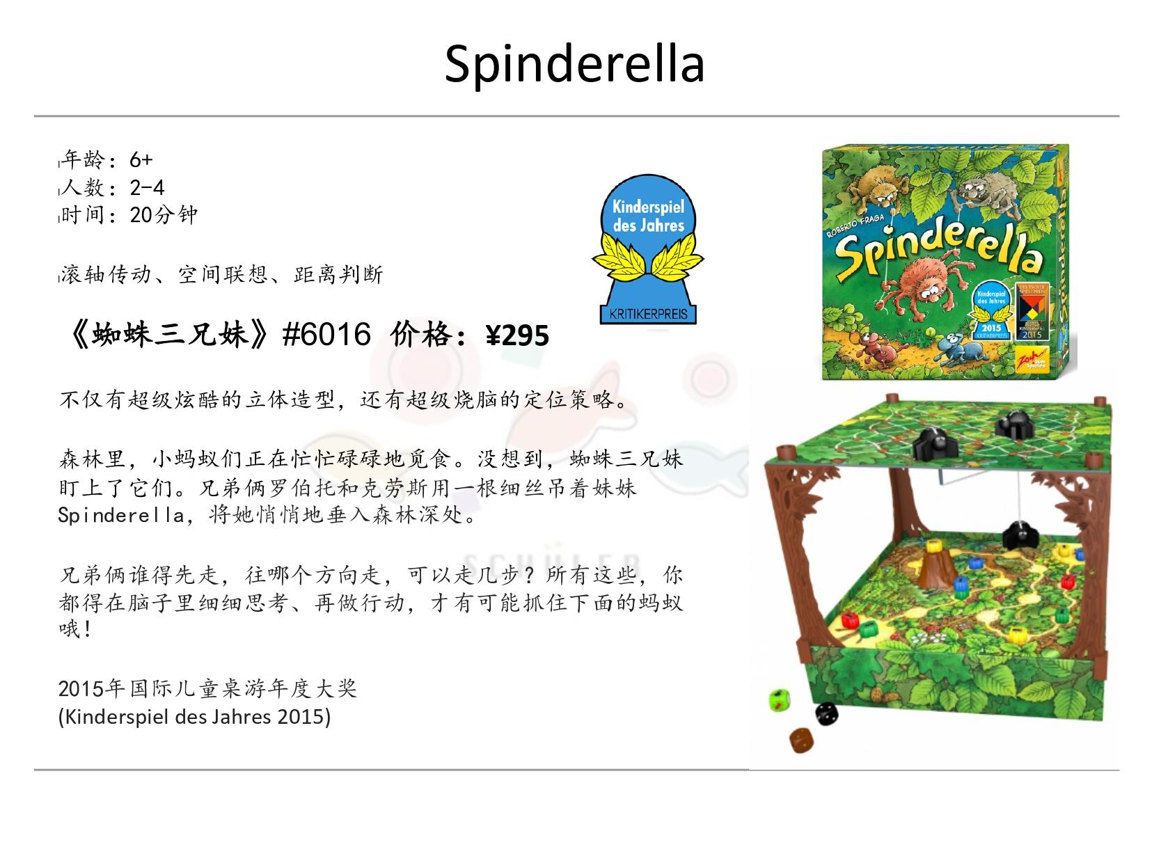 Spinderella 蜘蛛三兄妹